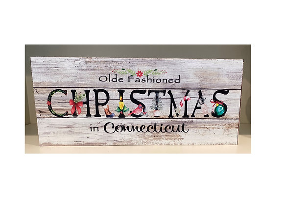 CHRISTMAS IN CONNECTCIUT SIGN