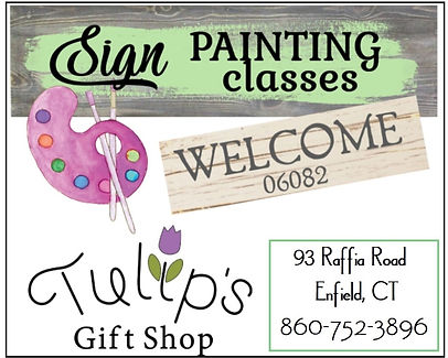 PAINTING CLASSES IN ENFIELD CT AT TULIPS GIFT SHOP