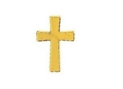 GOLDTONE CROSS PIN