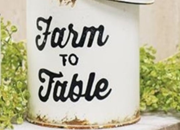 FARM TO TABLE LARGE CANISTER