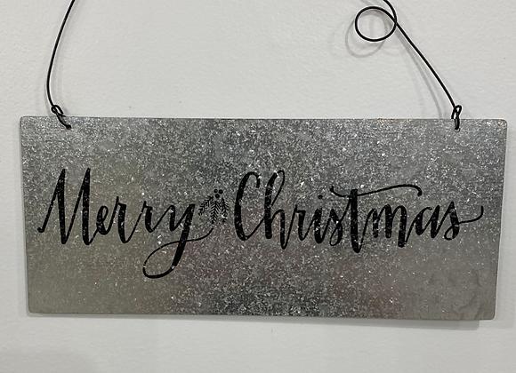 TIN CHRISTMAS SIGN