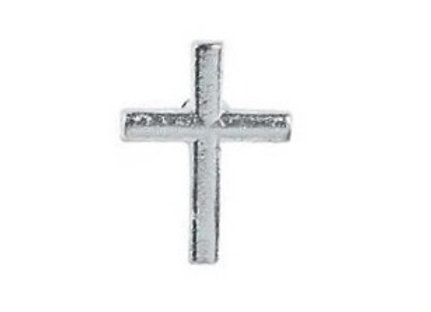 SILVERTONE CROSS PIN