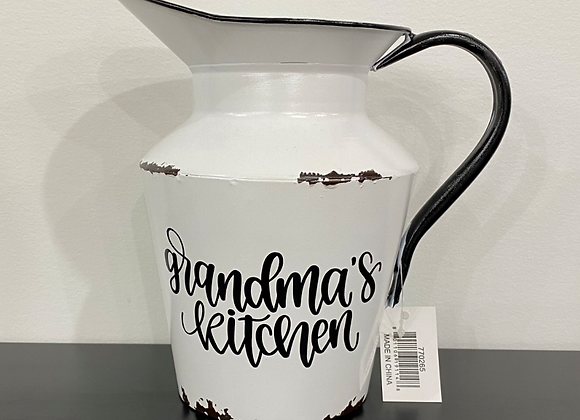 GRANDMA'S KITCHEN PITCHER