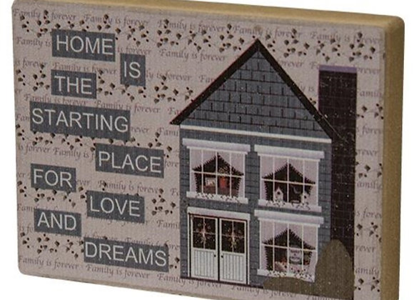 HOME & DREAMS SHELF SITTER BLOCK