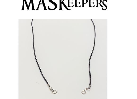 BLACK Waxed cord MASKeepers