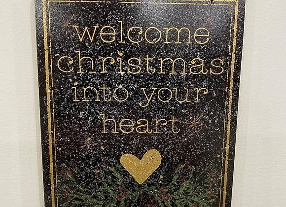 WELCOME CHRISTMAS SIGN