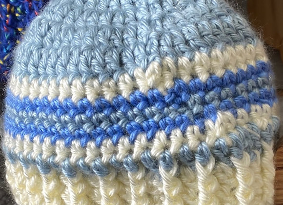 BABY BLUES CROCHET HAT