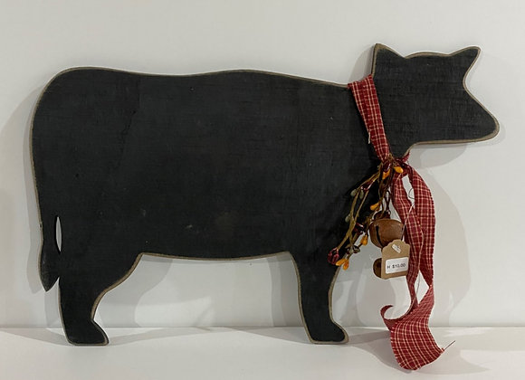 LARGE COW HANGING/RED