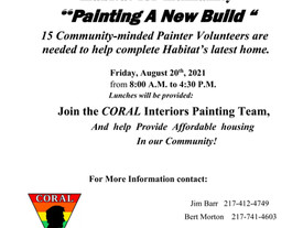 CORAL Joins Habitat for Humanity: Painting a New Build