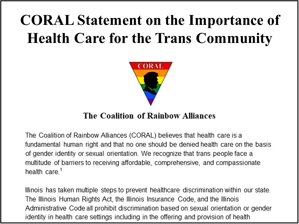 Statement In Support of Trans Healthcare