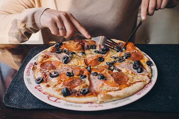 Schneiden Pizza