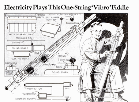 How to Build a One-String Vibro Fiddle - 1937