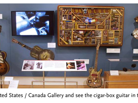 Four-String Cigar Box Guitar Part of MIM Museum Collection