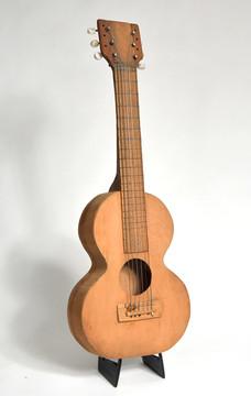 Folk Art Acoustic Guitar - circa 1950's