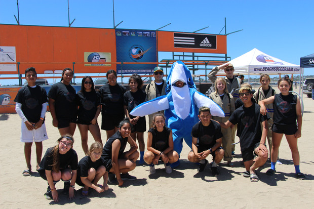 San Diego TOPSoccer athletes and buddies attend  the Beach Soccer Jam