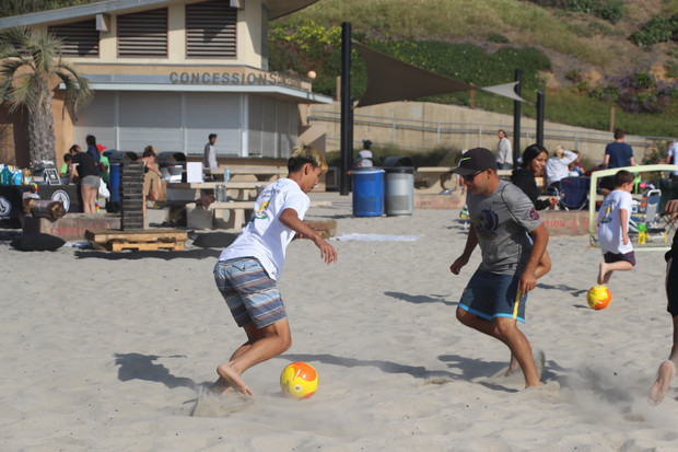 Valley Center TOPSoccer trains with Mikel Palmerin from the Men's National Beach Soccer Team