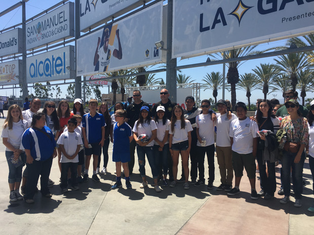 Valley Center TOPSoccer Heads to LA Galaxy Game