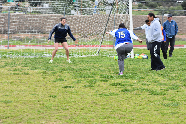San Diego SeaLions Training with Valley Center TOPSoccer