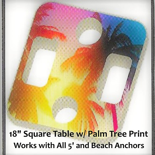 "Palm Print 18"" Square Table"