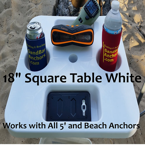 "White 18"" Square Table"