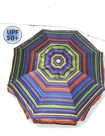 6 Ft. Striped Umbrella