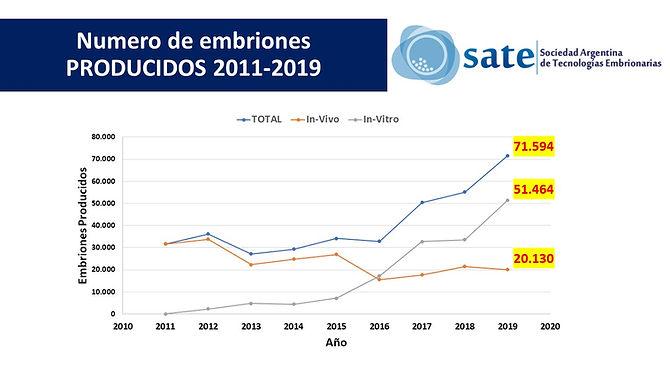 Estadisticas SATE 2019 -  Producidos acu