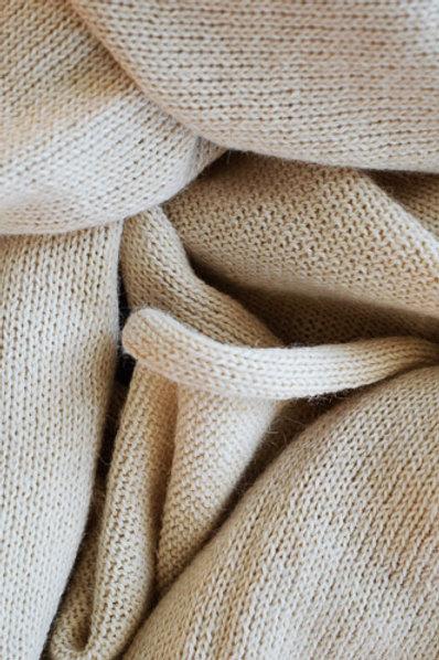 XL Scarf 100% Alpaca Wool Vanilla White