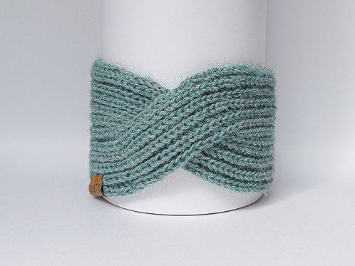Knitted Headband 100% Alpaca Wool Spring Breeze Blue