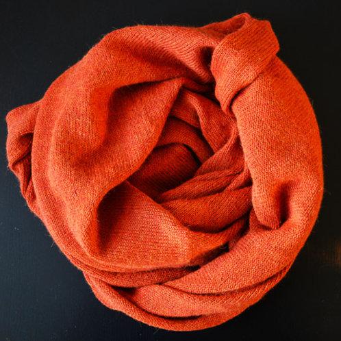 XL Scarf 100% Alpaca Wool Rusty Orange