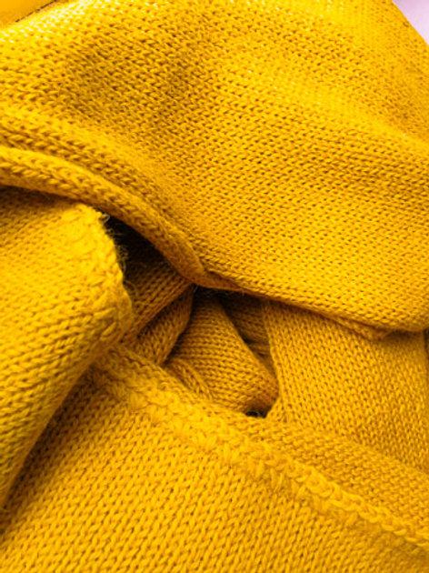 XL Scarf 100% Alpaca Wool Sunny Ocre