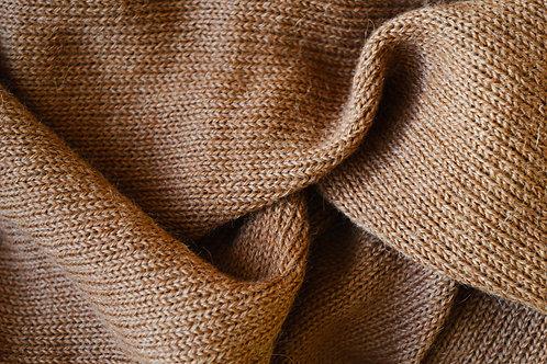 XL Scarf 100% Alpaca Wool Classy Camel