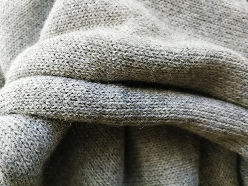 XL Scarf 100% Alpaca Wool Silvery Grey