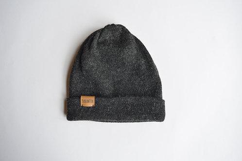 (Reversible) Hat 100% Alpaca Wool Stormy Night Grey