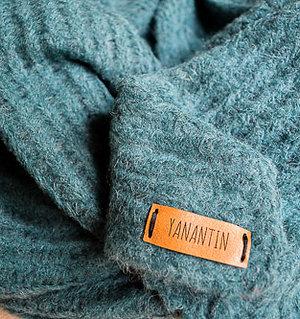 Loose-Knit XL Scarf Baby Alpaca & Merino Blend Pine Green