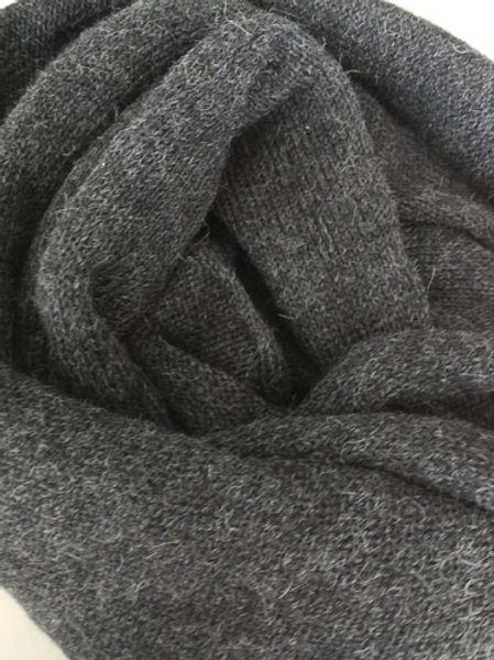XL Scarf 100% Alpaca Wool Stormy Night Grey
