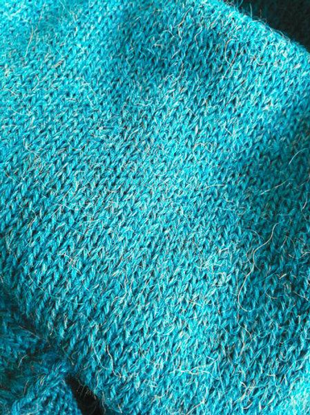 XL Scarf 100% Alpaca Wool Ocean Blue