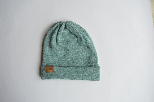 (Reversible) Hat 100% Alpaca Wool Spring Breeze Blue
