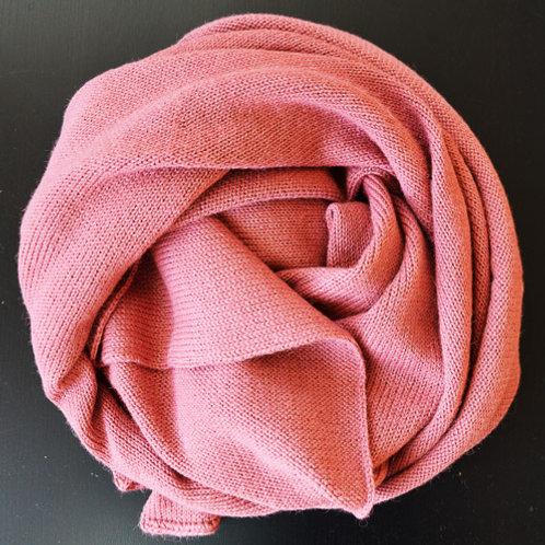 XL Scarf 100% Alpaca Wool Old Roses