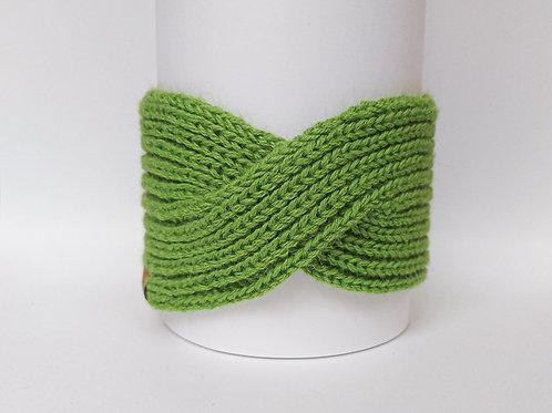 Knitted Headband 100% Alpaca Wool Grasshopper Green