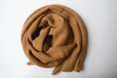Large Scarf 100% Alpaca Wool Classy Camel