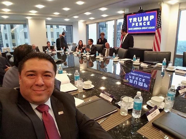 My friend Jesus from Nevada! Taking care of biz _ #trumptower in NY #LatinosForTrump #OperationTacoB