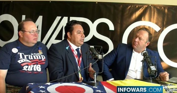 thank you _real_alexjones for having us in your show! You are the MAN! #latinosfortrump 💥 Racist MS