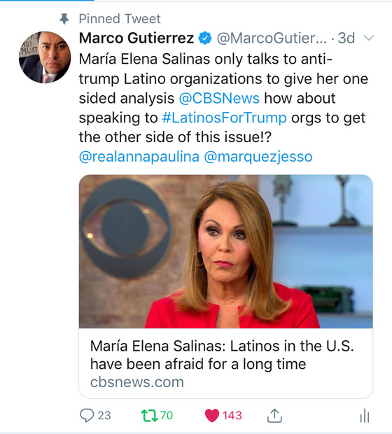María Elena Salinas only talks to anti-trump Latino organizations to give one-sided analysis