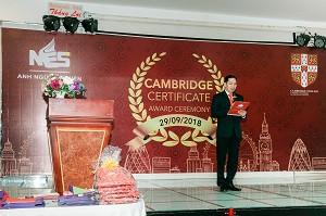 LỄ TRAO CHỨNG CHỈ CAMBRIDGE NGÀY 29/09/2018 TẠI KHÁCH SẠN THẮNG LỢI, BÌNH DƯƠNG