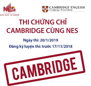 THI CHỨNG CHỈ CAMBRIDGE CÙNG NES
