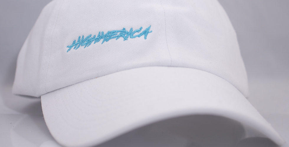 WHITE TILT HIGHMERICA HAT WITH GOLD DRIP PIN