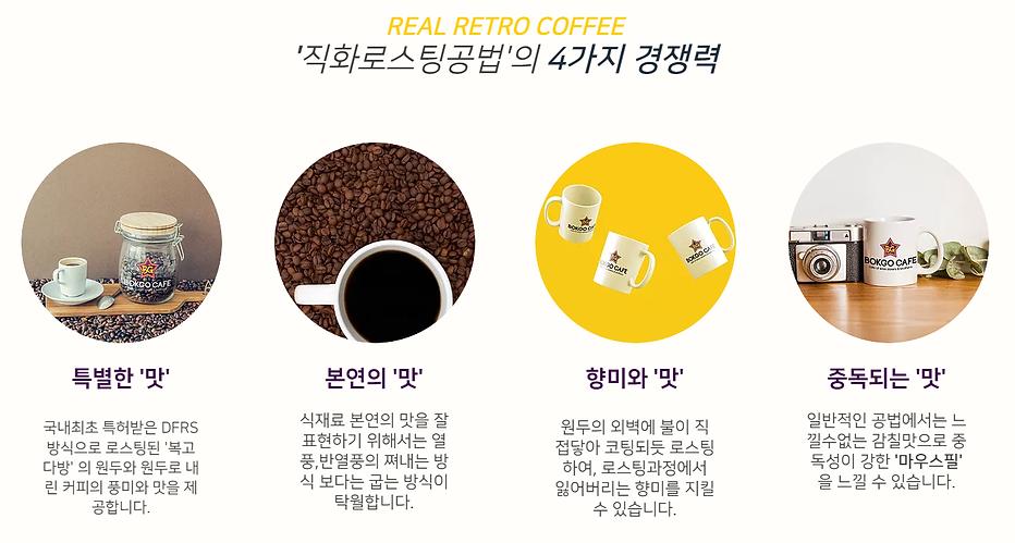 커피창업 직화로스팅공법 경쟁력 원두본연의맛