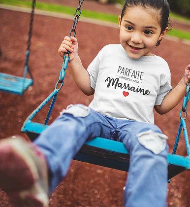 T-shirt Sweat Enfant Parfaite comme Marraine