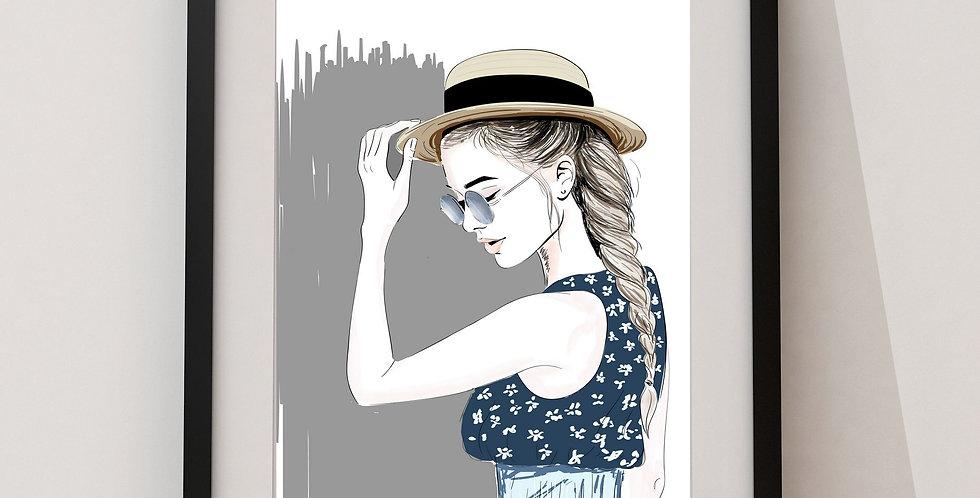 Affiche Femme à lunette 130