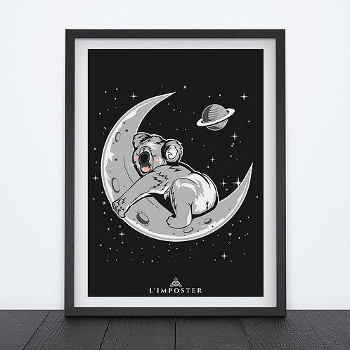 Affiche Koala sur la lune